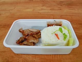 Thai-style grilled pork with rice