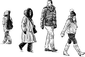 casual pedestrians