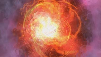 Digital Animation of a cosmic Swirl