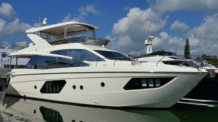 Miami yacht 4k video footage
