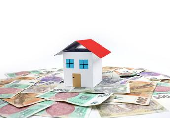Czech money - house, home