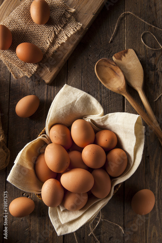 Raw Organic Brown Eggs - 78917575