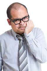 Businessman suffering tooth pain