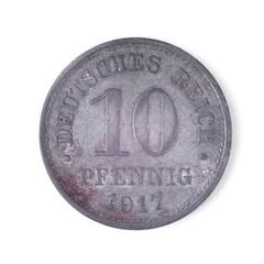Zehn Pfennig Deutsches Reich 1917