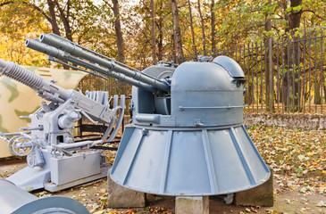 Soviet naval twin 30 mm anti-aircraft gun model AK-230