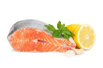 Salmon with herbs and lemon