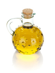 Vintage olive oil bottle