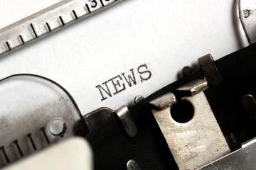 News written on an old typewriter