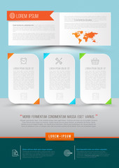 Modern Vector abstract brochure, report, document.