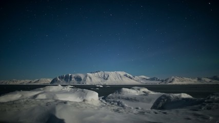 Natural phenomenon of Northern Lights - Arctic landscape