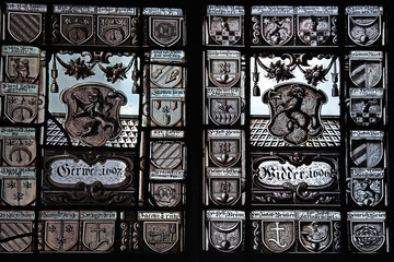Medieval stained glass in Swiss National museum