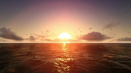Okyanusta Gün Batımı