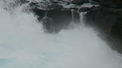 Sea Water Dripping off Rocks