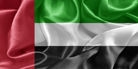 United Arab Emirates satin flag