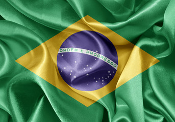 satin Brazilian flag