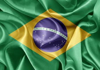 satin Brazilian flag