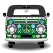 Hippie Groovy Van Peace and Love - 78926335