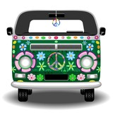Hippie Groovy Van Peace and Love