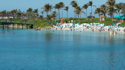 Time Lapse of Tropical Bahamas Resort Beach