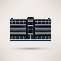 Business center. Icon in the flat style.