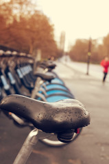 bicycle hire in Hyde Park in London, United Kingdom