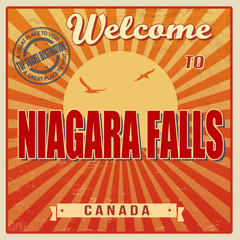 Niagara Falls retro poster