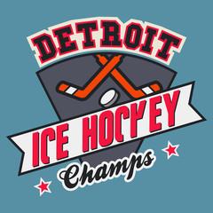 Detroit Ice Hockey Champs t-shirt design