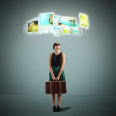 Tourist selects destination