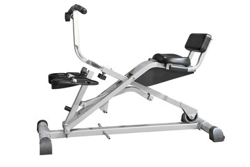 rowing machine isolated on white background