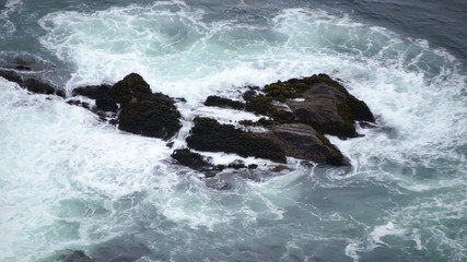Time Lapse of Waves Crashing on Rocks - Big Sur