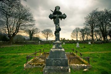 Crucifix grave marker at   Cork Ireland