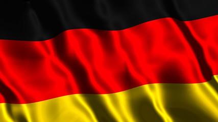 German Flag Waving (Loop Video)