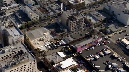 Aerial View of Downtown Hollywood,  Los Angeles California