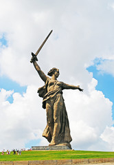 The Motherland Calls statue in Mamayev Kurgan