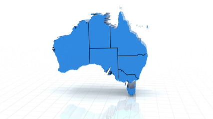 3d animation of australia map