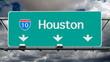 Houston Interstate 10 Freeway Sign Time Lapse