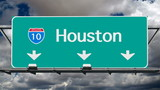 Houston Interstate 10 Freeway Sign Time Lapse