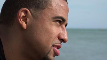 Adult Hispanic Male Near Ocean