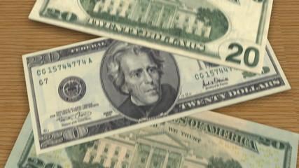 Twenty Bills Fall on Surface