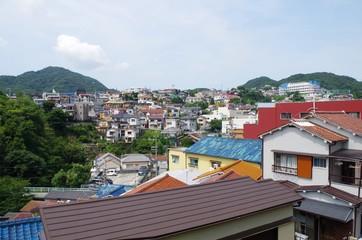 丘陵地帯の住宅地