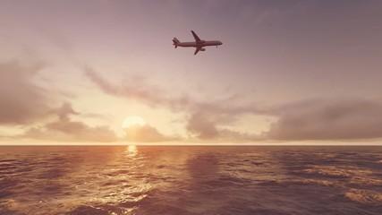 Gün Batımı Uçak Manzarası
