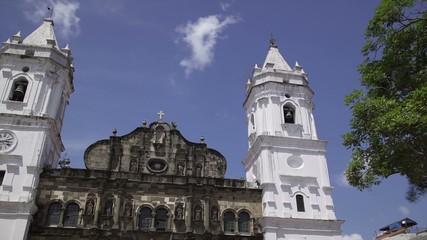 Panama City Time Lapse Cathedral In Plaza Mayor Casco Antiguo