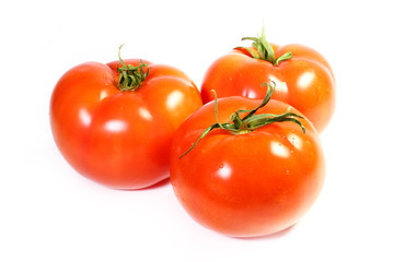 beautiful ripe red tomato as an element of food