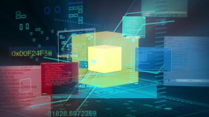Digital Data Code Network Interface Technology 4K