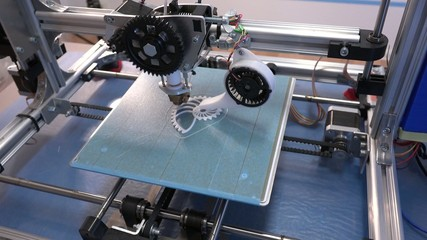 3d printing processing with modern filament printer