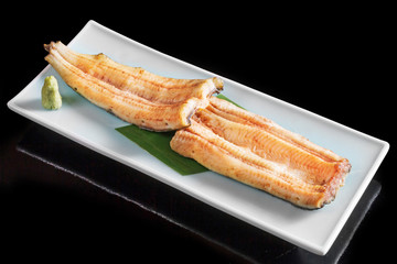 うなぎの白焼き Unglazed pottery of the eel
