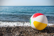 children's inflatable ball on the beach - 78944129