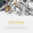 Leinwanddruck Bild - plumbing and tools on a light background