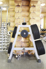 Post with the weight discs