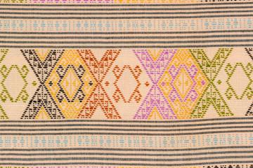 Ancient Thai art fabric paint pattern .